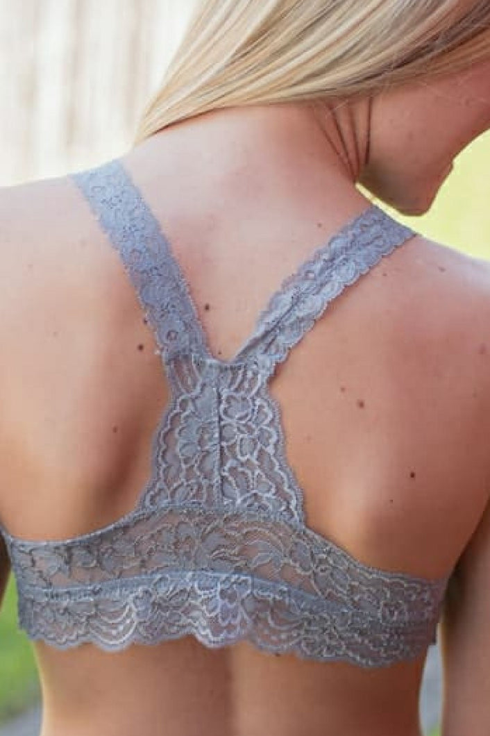 So In Love Racerback Bralette (Grey)