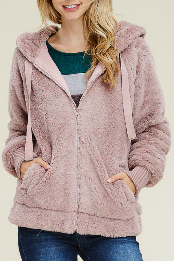 Wrapped in Luxury Jacket (Mauve)