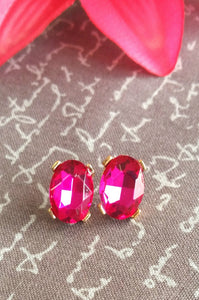 Gorgeous Gems Earrings(Pink)
