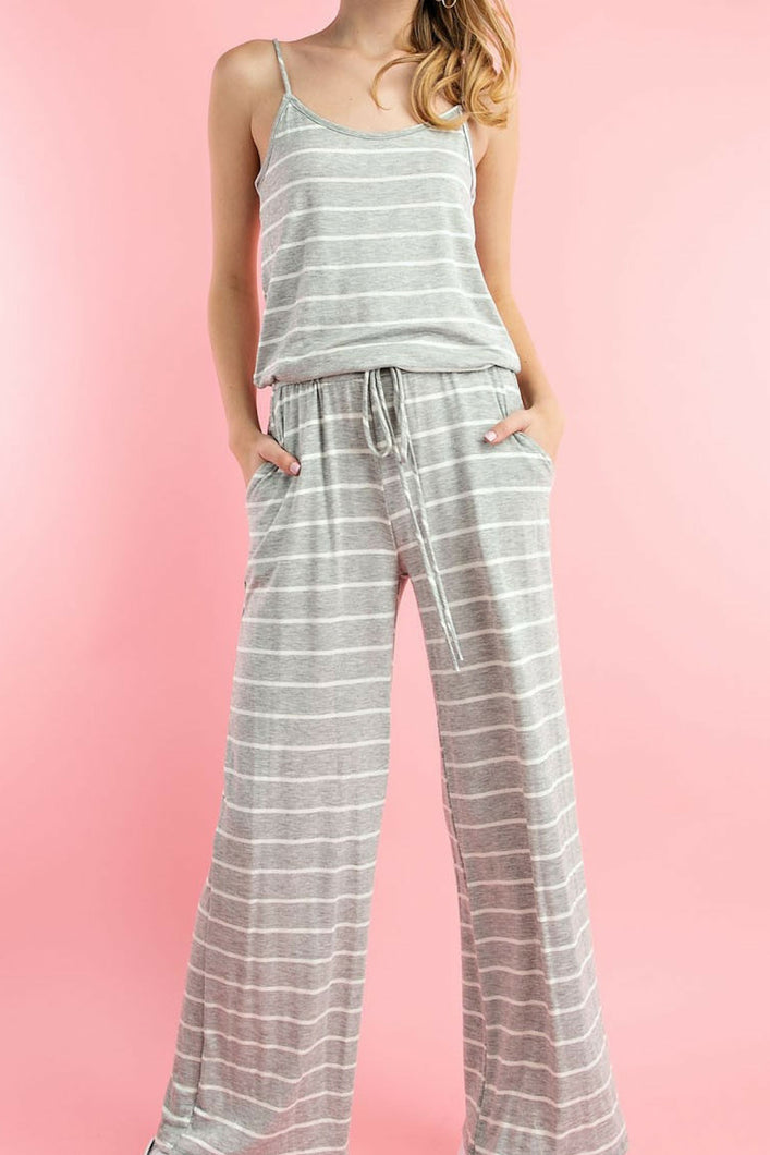Vacation Bound Jumpsuit (Grey)