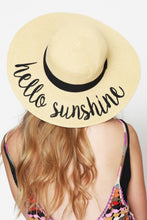 Load image into Gallery viewer, Hello Sunshine Straw Beach Hat