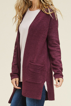 Load image into Gallery viewer, Laid Back Cardigan (Burgundy)