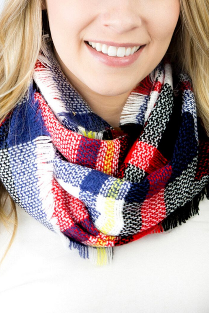 Merry Go Round Infinity Scarf (Red)