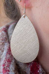 Champagne Wishes Leather Earrings