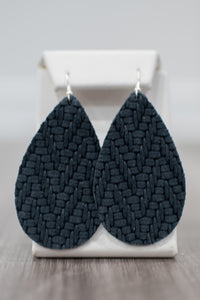 Navy Nights Leather Earrings