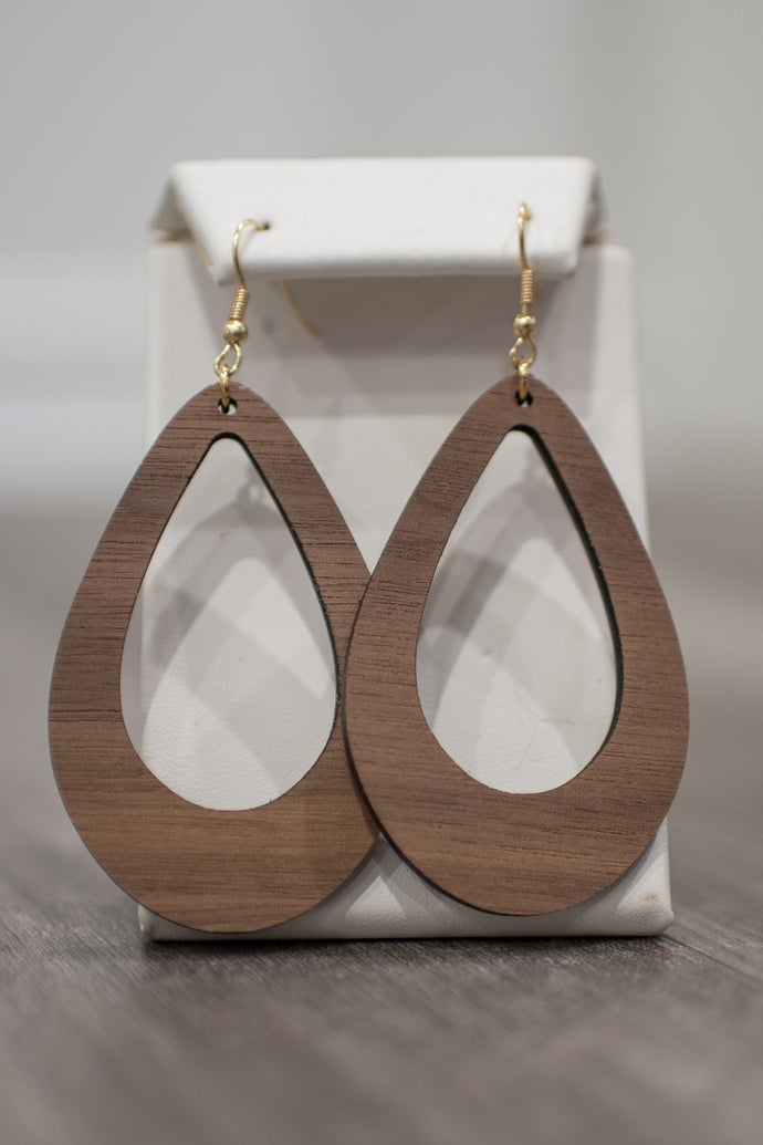 Wooden Cove Earrings (Medium)