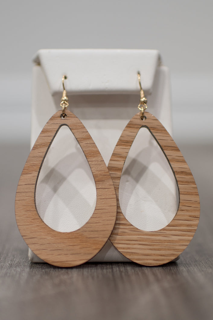 Wooden Cove Earrings (Light)