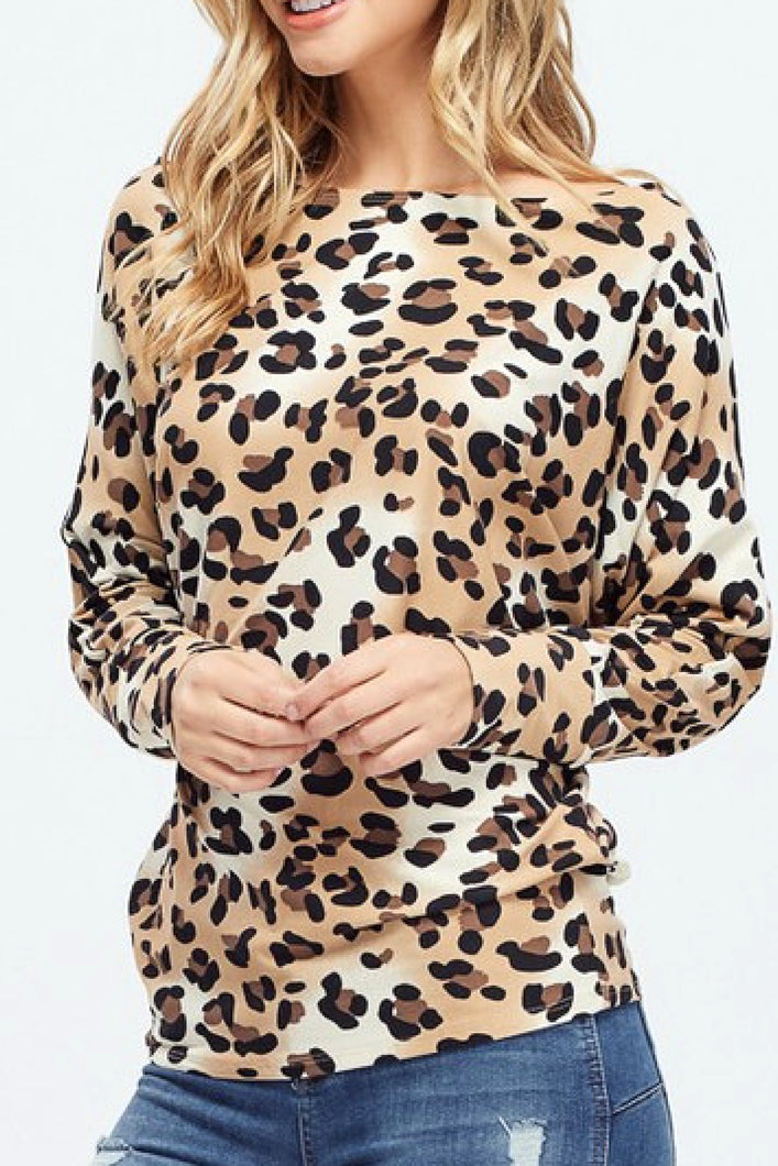 Spotted from Afar Cheetah Print Top