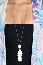 Load image into Gallery viewer, White Sands Tassel Necklace