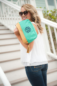 Cabana Cosmetic Bag (Mint)