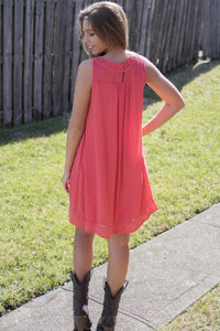With Ease Dress (Coral)