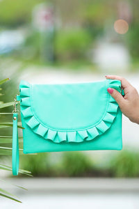 Heart Flutters Clutch (Mint)