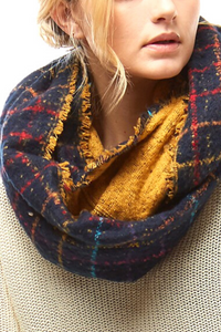 Navy Nights Infinity Scarf