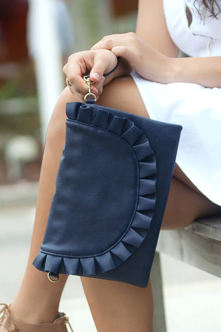 Heart Flutters Clutch (Navy)