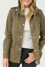 Load image into Gallery viewer, Ready for Anything Utility Jacket (Olive)