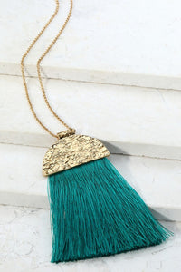 In the Tropics Tassel Necklace
