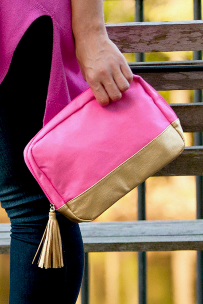 Cabana Cosmetic Bag (Hot Pink)