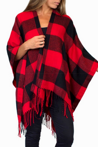 Little Red Riding Hood Plaid Shawl