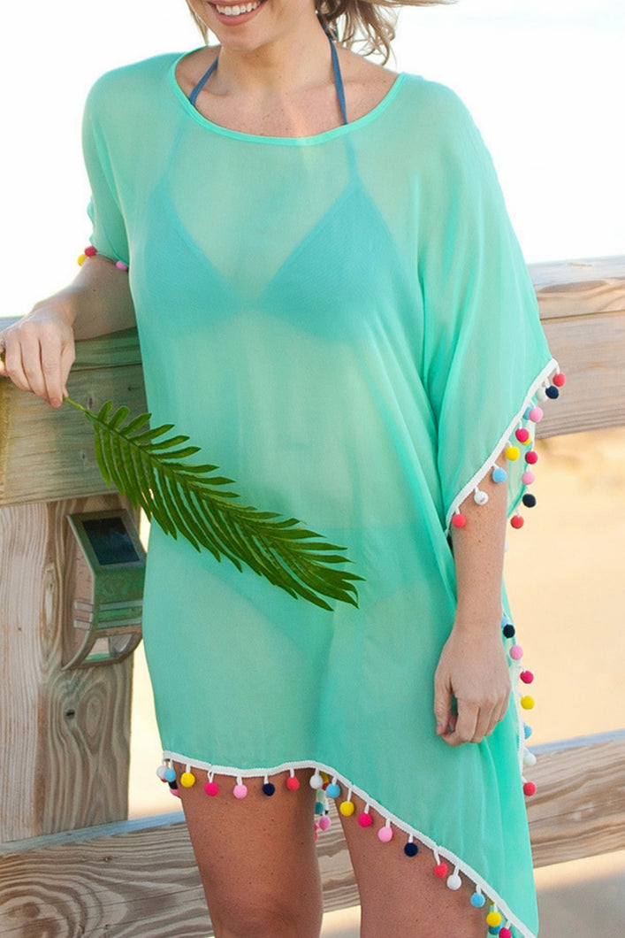 Pom's Away Swimsuit Cover Up (Mint)