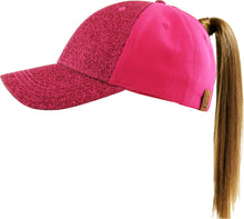 Load image into Gallery viewer, All That Glitters Ponytail Baseball Cap