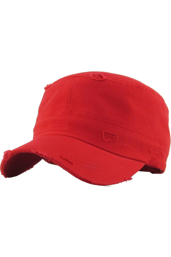 Reserved Distressed Cadet Hat (Red)