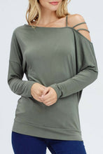 Load image into Gallery viewer, Happy Hour Off the Shoulder (Olive)