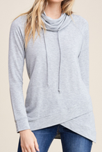 Load image into Gallery viewer, Seize the Day Cowl Neck (Heather Grey)