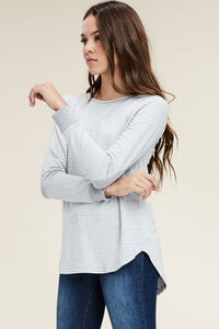 Back to Me Top (Light Grey)