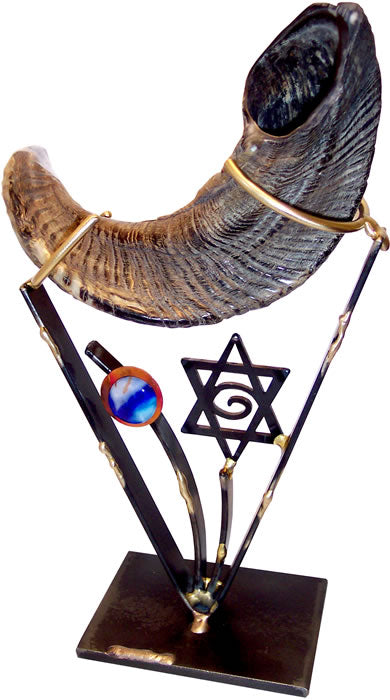 Gary Rosenthal Shofar Holder With Star of David