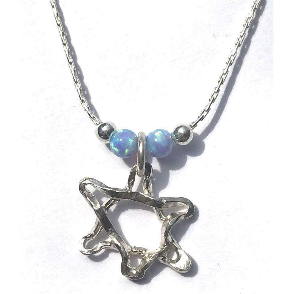 Agam Judaicart Star of David With Opals