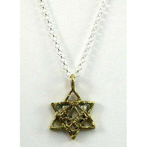 Angie Olami Roman Glass Star of David Necklace
