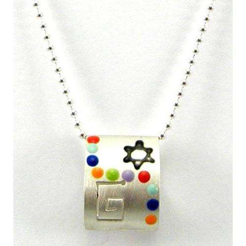 Ann Carol Jewish Star Necklace With Art Deco Design