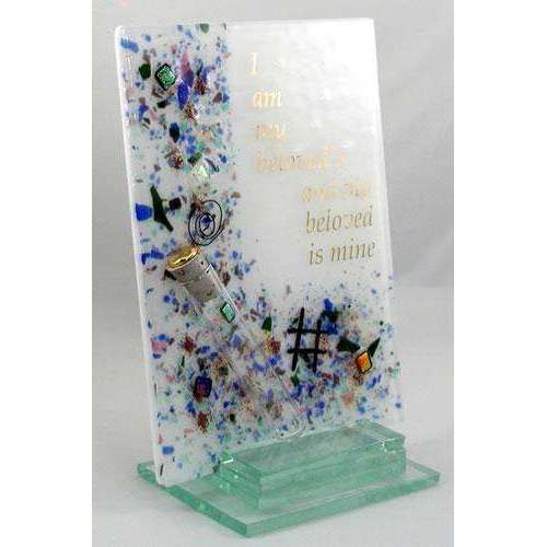 Beames Designs 'I Am My Beloved's And My Beloved Is Mine' Plaque With Wedding Glass Tube