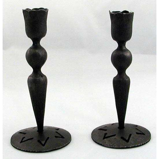 Blackthorne Forge Elegant Iron Sabbath Candlesticks