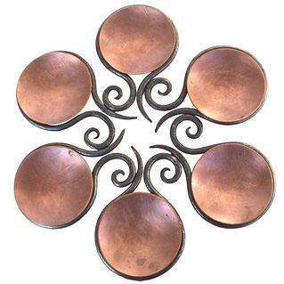 Blackthorne Forge Iron Open Scroll Passover Seder Plate