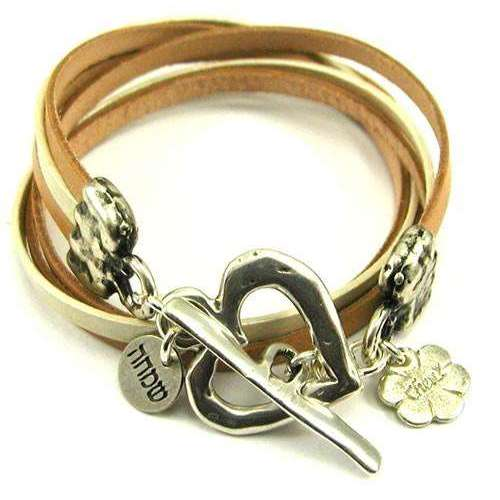 Chen Z Simcha Leather Wrap Bracelet With Heart
