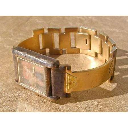 Eduardo Milieris Cloister Watch: Brass Trim with Rivets on Narrow Band
