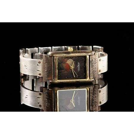 Eduardo Milieris Cloister Watch: Hammered Silver Trim on Narrow Band