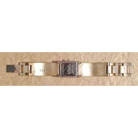 Eduardo Milieris Cloister Watch: Silver Texture Design on Wide Metal Band