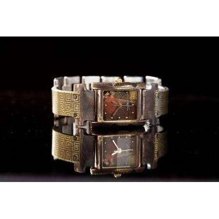 Eduardo Milieris Florence Watch: Brass Greek Design on Narrow Band