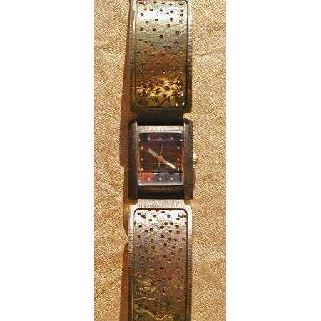 Eduardo Milieris Florence Watch: Brass Perforated Trim on Wide Band