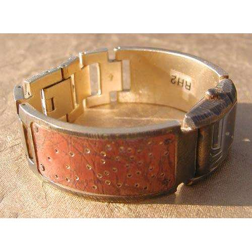 Eduardo Milieris Florence Watch: Copper Perforated Trim on Wide Band