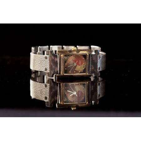 Eduardo Milieris Florence Watch: Silver Greek Design on Narrow Band