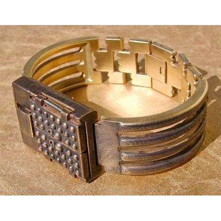Eduardo Milieris Gates of Time Unique Watch: Brass Dots on Wide Band