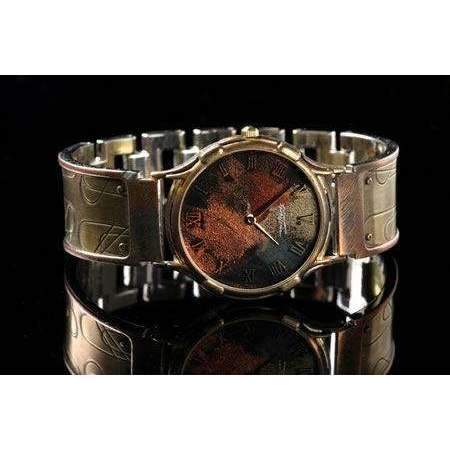 Eduardo Milieris Minstrel Watch: Large Brass Paper Clips Design on Wide Band