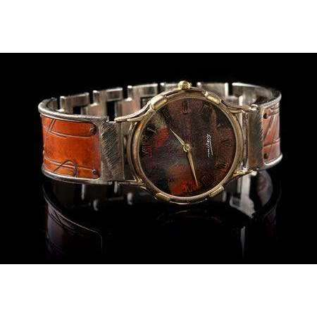 Eduardo Milieris Minstrel Watch: Large Copper Paper Clips Design on Wide Band