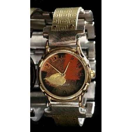 Eduardo Milieris Minstrel Watch: Small Brass Greek Design on Narrow Band