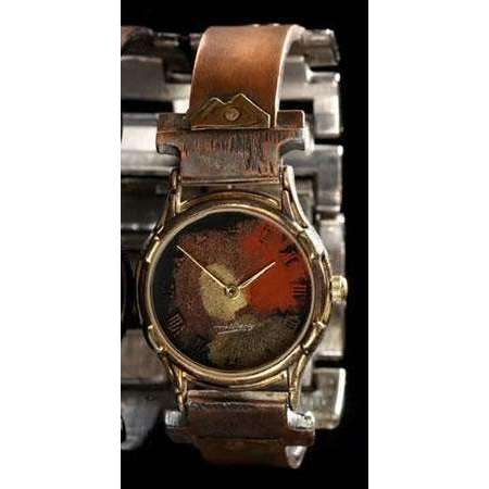 Eduardo Milieris Minstrel Watch: Small Copper Trim on Narrow Band