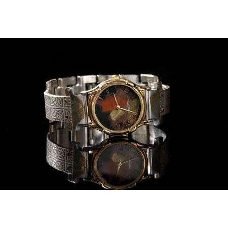 Eduardo Milieris Minstrel Watch: Small Silver Celtic Design on Narrow Band