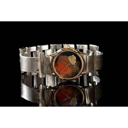 Eduardo Milieris Minstrel Watch: Small Silver Greek Design on Narrow Band